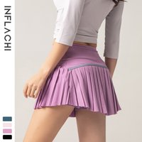 Casual Dresses Women 2 In 1 Pleated Skirts Running Shorts Gym Fitness Quick Dry Tennis Sport Yoga Short Clothes DK09