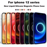 Official Original Magsafe Liquid Silicone Cases For Apple iPhone 12 Pro Max Mini Magnetic Case 12mini Back Cover With Animation Phone Coque Logo 12pro Funda 1:1