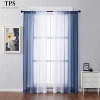 Height 400cm Two Pieces Gradient Tulle Curtains For Living R...