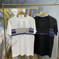 2021 Spring Summer Luxury Teater Prin Shirs Couple Couple Solide Couleur Solitable Srip Prin Shir Casaul Designer T-shir