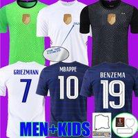 2021 Francia Soccer Jerseys Benzema Mbappe Griezmann Pogba 21 22 National League Final Francia Maillot de piede Varane Camicie da calcio Kante Euro Tops Coppa Portiere