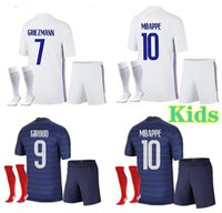 2021 2022 2 estrelas futebol jersey mbappe grisezmann kante pogba maillot de pé euro 20 21 kits kits + meias conjunto de camisas de futebol uniforme