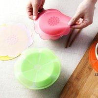 Cubierta de silicona de alimentos Tapa de silicona universal Mat para utensilios de cocina Bowl Pot Reutilizable Tapa de estiramiento accesorios de cocina HWF7680