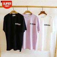 En İyi Sürüm 1: 1 Pusugo Logosu Baskılı Kadın Erkek T Shirt Tees Hiphop Streetwear Pamuk Gömlek # J00V