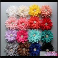 "Acessórios 15percent off Style 4 ""14Colors Shabby Lace Hair Metal Rhinestone Tecido Flores Artificial Tecido Flores Bebê Headbands 120 pcs 3 u6iwd"