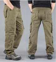 De haute qualité Kaki Casual Pantalon Hommes Militaires Tactical Joggers Multi-poche Fashions Black Armée Pantalons Hommes