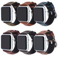 ساعة عالية الجودة جلد طبيعي حزام ل Apple Watch Band 6 5 4 3 2 1 38 40 42 44 مم