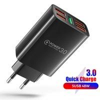 Chargeurs de téléphonie 5 Chargeur USB Charge rapide pour iPhone 12 Pro Max Xiaomi MI Mix 4 Oneplus Universal Téléphone mobile Fast Chargeurs sans fil sans fil