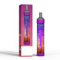 원래 전자 담배 RAND 스위치 프로 2in1 일회용 포드 장치 RGB LED 조명 7ml 3200 퍼프 vape 펜 1000mAh 충전식 배터리