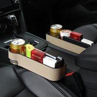 Car Organizer Seat Crevice Storage Box Accessories Interior Leather Phone Holder Auto Accessoire Voiture Organizador