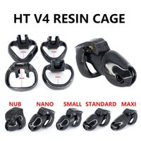 For Male Chastity Device HT-V4 Set Resin Cock Cage Penis Ring Bondage Belt Fetish Adult Sex Toys Men Cockrings