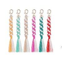 Fashion Woven Keychain Pendant Creative Corn String Tassel Keychains Luggage Decoration Key Chain DIY Gift Keyring BWB8954