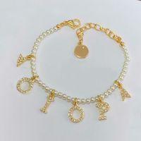 Braccialetti di ribalta per perline di fascino di modo Braccialetto della collana dei braccialetti per la signora delle donne dei monili di fidanzamento del regalo del partito delle donne con la scatola.