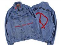 Трэвис Скотт Джинсовая куртка повседневная кактус Джек вымытые тяжелые вышитые куртки Высокая уличная Дизайн Вышивка Узор Модный Пальто для мужчин и женщин