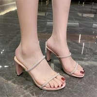 Dress Shoes Corporis 2021 Summer Sandals Women High Heels Prom Ladies Thick Heel Female Wedding Big Size