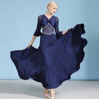 Balo Salonu Dans Elbiseleri Kadın Tasarımcı Giysi Uzun Elbise Mavi Flamenko Kıyafetler Performans Kostüm Modern Giyim JL2694 Sahne Giyim