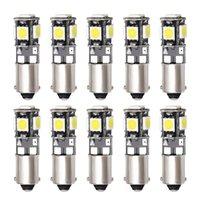 10 ADET T4W BA9S CANBUS LED Işık Ampuller H6W T11 Hatası Ücretsiz Araba Okuma Dome Kapı Lambası Işıkları İşaretleyici Ampul Beyaz Acil Durum
