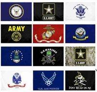 EE.UU. Bandera del ejército USMC 13 ESTILOS Fábrica directa al por mayor 3x5fts 90x150cm Fuerza aérea Skull Gadsden Camo Ejército Banner US Marines DHA5025