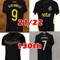 21 22 AIK Fotboll 130 سنة كرة القدم جيرسي قميص المنزل الأسود الذهبي PapagianNopoulos Rogic Larsson Tihi 2021 2022 AIK 130th Inniversary