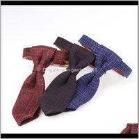 Halsbänder Leinen 3 Farbe Britischer Stil Hundehalsband Hohe Qualität Plaid Baumwollstoff und PU-Leder Pet Hals Gürtel Zinklegierung Metall Buck LN2LC