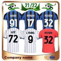 21/22 Atalanta BC Jerseys 2021 Gosens Palomino Lammers L.Muriel Freuler de Roon Camiseta Romero Ilicic Duván Pessina Futebol Uniforme