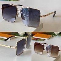 남성과 여성을위한 선글라스 여름 스타일 1156 안티 - 자외선 레트로 스퀘어 플레이트 전체 프레임 패션 안경 무작위 상자