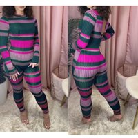 Women's Jumpsuits & Rompers Sexy Club Long Sleeve One Piece Overalls Hirigin Autumn Striped Print Bodycon Jumpsuit Women Skinny Active Wear