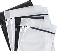 40 unids / lote Medio grande con cremallera Nylon de nylon Bolsa de lavandería Sujetadores SOCKS Ropa interior Ropa Lavadora Protección Net Bolsas de malla 717 V2