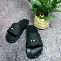 파리 럭셔리 디자이너 샌들 슬라이드 슬리퍼 거품 러너 남성 Womens 여름 해변 슬리퍼 숙녀 플립 플롭 로퍼 블랙 야외 홈 chaussures 신발 상자