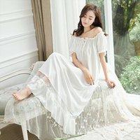 Vintage Prenses Gecelik Pijama Dantel Bayan Pijama Ruffles Pijama.Lady Kraliyet Uzun Gecelik Lolita Loungewear Gecelikler