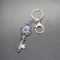 Newunique 블루 크리스탈 키 반지 보석 좋은 품질 칠면조 악마의 눈 합금 키 체인 매력 키즈 선물 1253 B3