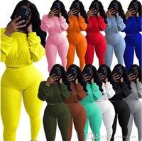 Artı Boyutu Kadın Spor Eşofmanları İki Adet Kıyafetler Tasarımcılar Giysileri 2021 Moda Yarasa Kollu Top Tayt Pantolon Set Koşu Takımları
