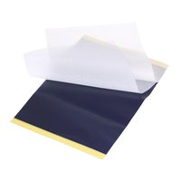 100 Sayfalar / grup Dövme Transferi Kağıtları A4 Boyutu Dövme Termal Fotokopi Şablon Kağıtları Dövme Transfer Makinesi Aksesuarları J022