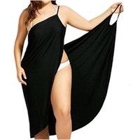dress Summer Sexy Beach V-neck Sling towel Backless bathrobes Fast Dry Badmode Women Tropical es Plus Size S-5XL