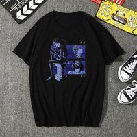 Homens vestuário anime camiseta personalidade anime morte nota novidade shinigami ryuk t shirt homens de mangas curtas harajuku top top38054
