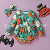 Festival de fête d'Halloween Toddler Baby Romper Vêtements pour enfants Combinaison Autumne Hiver Pumpkin Imprimer Vacances à manches longues G81K213