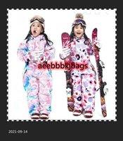 Skijacken Winter Kinder Overalls Mit Kapuze Warme Mädchen One Stück Skianzüge Sport Snowboard Overall Wasserdichte Kinder Schnee Kleidung1