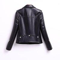 Pelle da donna Faux 2021 Top Luxury Giacca di Riamma Reale Donne Cappotti di pecora Genuina Casual Moto Motociclista Giacche con cerniera Roupas Femina