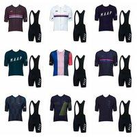 Maap 팀 사이클링 저지 2019 새로운 짧은 소매 턱받이 반바지 레이싱 자전거 MTB 사이클 옷 착용 Ropa Ciclismo Sportswear K073104