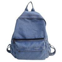 Backpack Classic Women Vintage Zaino Donna Denim Bookbags Back To School Bag Sac A Dos Hommes College Jeans Daypack Rucksack