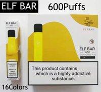 ELF BAR 600 Puffs Einweg-Vape-Stift E-Zigarette 16 Farben Kits Gerät VS Geek Bar