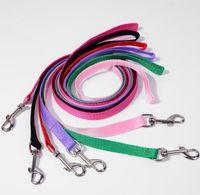 Nylon Dog Leashes Width 1.5cm Long 110cm Pet Puppy Training Straps Black Blue Dogs Lead Rope Belt Leash WWA134