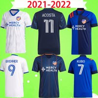 2021 2022 Cincinnati Jersey MLS Futebol Jerseys 21 22 Brenner Kubo Uniforme Mens Azul Branco Amaya Home Away Acosta A.Cruz Garza Kit Camisas de Futebol Top Quality