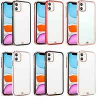 Luxury Frame Plating Clear Phone Case For iPhone 6 7 8 se plus x xr 11 12 pro max Transparent TPU Silicone Cover