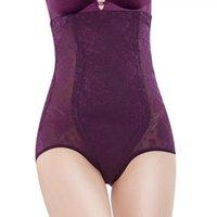 Women's Shapers Tummy Shaper Panties Body Corset Slimming Pants Shapewear Girdle Underwear Purple Lace High Waist Trainer Bulift Panty
