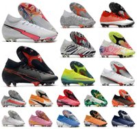 2021 Superfly VII 7 360 Elite SE FG Flash Crimson CR7 Ronaldo Mens Boys Soccer Shoes Football Boots Cleats Size 39-45