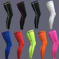 1 par Longen Ciclismo Legwarmers Legwarmers Basquete Manga Knee Almofadas Elásticas Futebol Shin Guardar Leggings Segurança de Esportes Protetora 271 x2