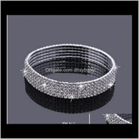 Anklets Jewelry Drop Consegna 2021 5-Fiva Five files Sparkly Strass crystal Stretch Stretch CZ Braccialetto Caviglia Sexy Anklet all'ingrosso sposa nuziale da sposa