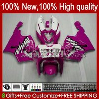 Cuerpo Carrocería para Kawasaki Pink White New Ninja ZX7R ZX750 ZX-7R ZX 7 R ZX 750 28HC.124 ZX 7R 96 97 98 99 00 01 02 03 ZX-750 1996 1997 1998 1999 2000 2001 2002 2003 Kit de carenización