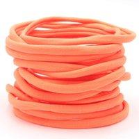20 colori disponibili Neonate Nylon Fandbands Tan Nude Nylon Hair Band Bambino Hairband Nylon Elastico Elastico Fascia per Bulk Soft sottile 130 y2